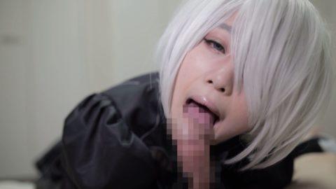 【フェラ】美少女コスプレイヤーがチンコを咥えながら見つめてくるエロ画像集(36枚)・10枚目
