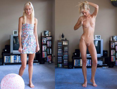 美女の着衣⇔ヌードを並べて興奮するエロ画像集(38枚)・30枚目