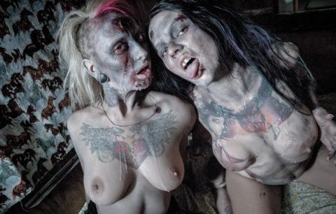【ハロウィン恒例】ゾンビメイクの美女たちのエログロ画像集(35枚)・30枚目
