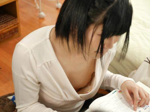 家庭教師の胸チラが気になって勉強に集中できない設定のAVエロ画像集(39枚)・38枚目