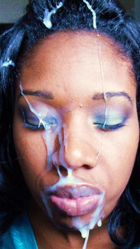 黒人女性に大量の精液をぶっかけた結果。芸術作品みたいになる(46枚)・6枚目