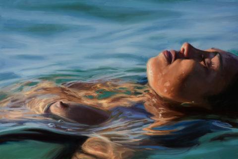 【画像】全裸で水面に浮かぶ女性、みんな共通しておっぱいがエロいwwwwwww・16枚目