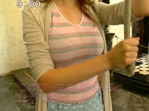 【画像】TVで放送された 透けブラ女子 のエロ画像集。(38枚)・1枚目