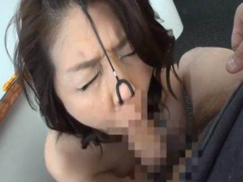 【極マニア】「鼻フック」された強烈ブス女のフェラをご覧くださいwwwwwww・16枚目