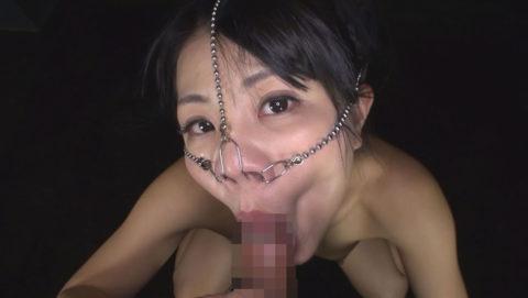 【極マニア】「鼻フック」された強烈ブス女のフェラをご覧くださいwwwwwww・2枚目
