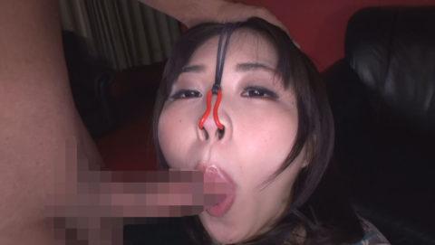 【極マニア】「鼻フック」された強烈ブス女のフェラをご覧くださいwwwwwww・21枚目