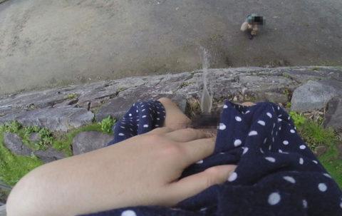 【マジキチ】高所から放尿して解放感を得ている女さんの表情wwwwwwww・15枚目