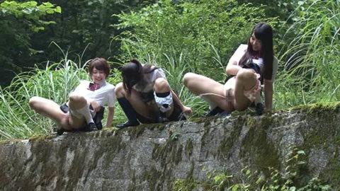 【マジキチ】高所から放尿して解放感を得ている女さんの表情wwwwwwww・3枚目