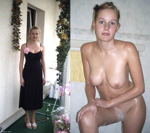 【画像】美女の着衣とヌードを比較するエロ画像集ってホントいいよね。(38枚)・30枚目