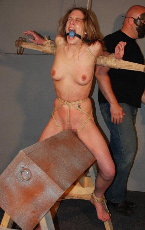 大昔の拷問器具で調教される身体が裂けそうな女がこちら。(画像あり)・31枚目