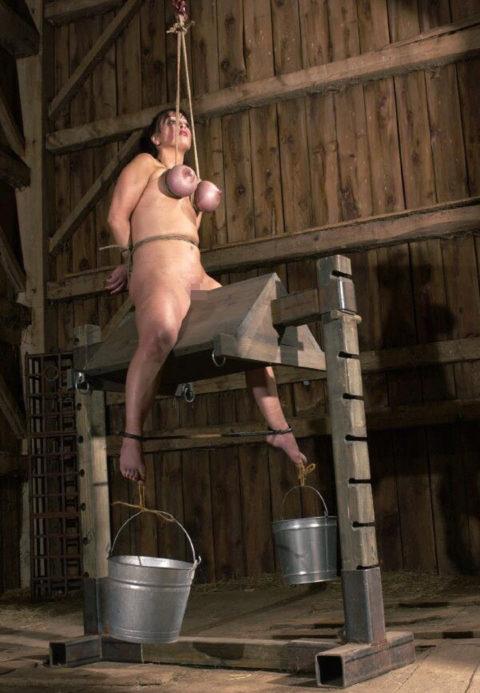 大昔の拷問器具で調教される身体が裂けそうな女がこちら。(画像あり)・34枚目