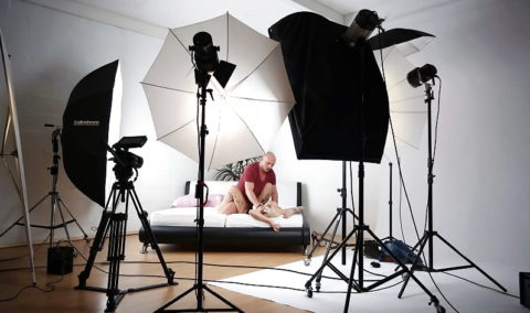 海外ポルノの撮影現場の光景。。もうハリウッドやんwwwwww(画像あり)・8枚目