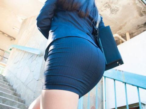 OLさんのタイトスカートとかいうケツをエロく見せるアイテムがこちら(画像36枚)・1枚目