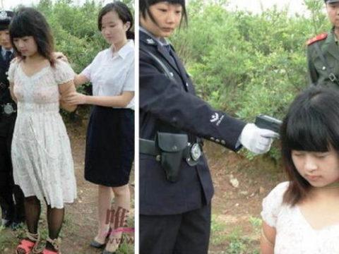 【閲覧注意】中国の女性死刑囚、エロいのにブッ殺される・・・(画像あり)・1枚目