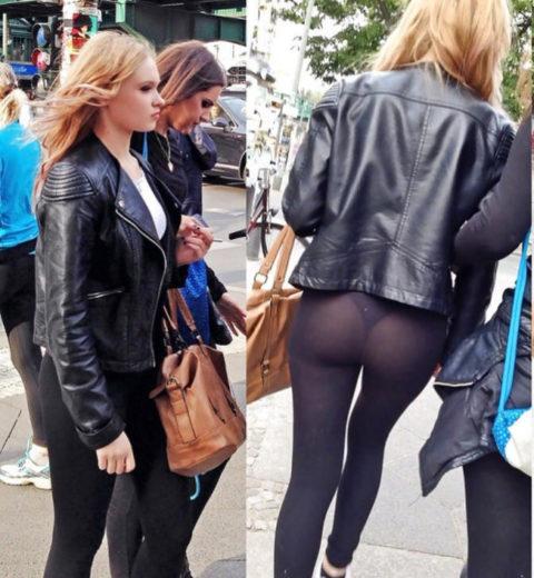 【街撮り】歩いてるだけで透けTバック女子に遭遇できる街ええなぁwwwwww・10枚目