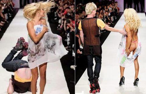 【パンチラ】ファッションショーのモデルさん、ランウェイですっ転んだ 結果wwwwww・7枚目