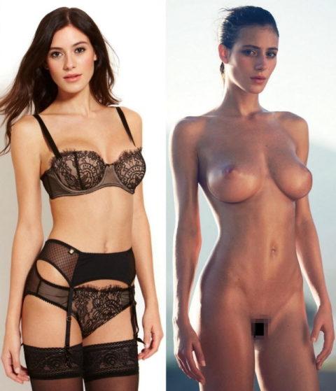 海外美女の「比較画像」服を着てたら分からない身体がガチでエロすぎwwwwww(画像40枚)・11枚目