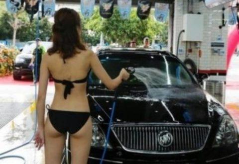 中国まんさん、欧米のマネをして「水着で洗車してみた!」がくっそエロかったwwwww(38枚)・22枚目