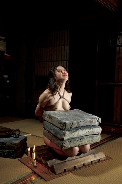 【調教】「石抱き拷問」とかいうプレイ、これ興奮する奴いるの?wwwwww(画像あり)・26枚目
