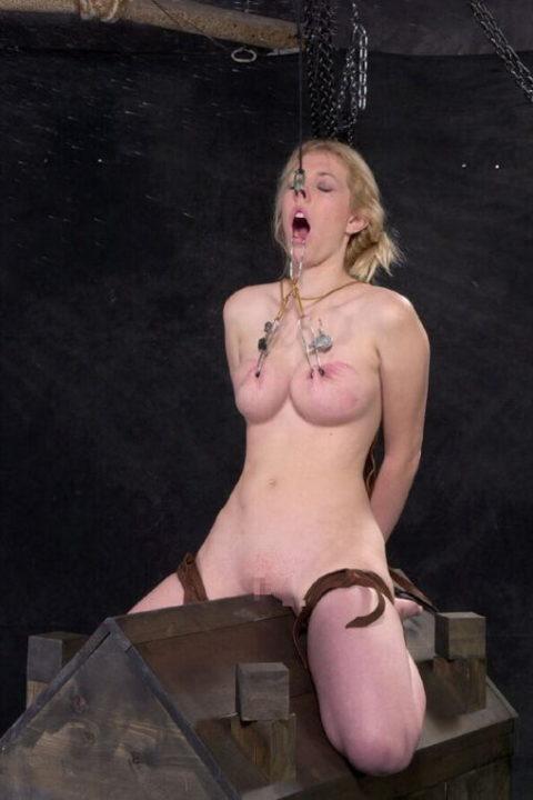 【調教】三角木馬で本気の拷問されてる女さんをご覧ください…これは痛すぎる(画像あり)・28枚目