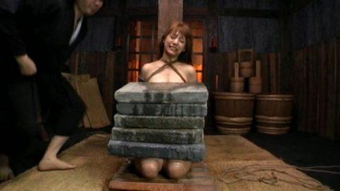 【調教】「石抱き拷問」とかいうプレイ、これ興奮する奴いるの?wwwwww(画像あり)・27枚目