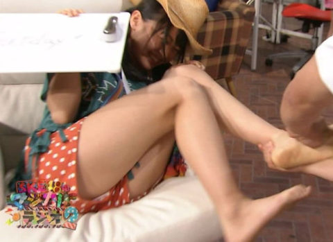 【パンチラ画像】女性芸能人やアイドルのガッツリ見えたパンチラシーン画像集(40枚)・3枚目