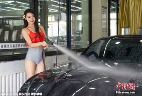中国まんさん、欧米のマネをして「水着で洗車してみた!」がくっそエロかったwwwww(38枚)・38枚目