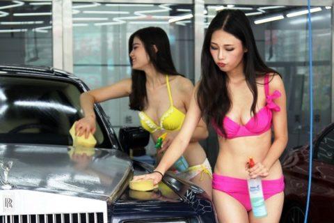 中国まんさん、欧米のマネをして「水着で洗車してみた!」がくっそエロかったwwwww(38枚)・4枚目