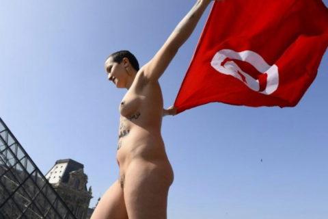 イスラム女子の全裸デモ。これ死刑じゃないの?エロいからいいの?(画像あり)・5枚目