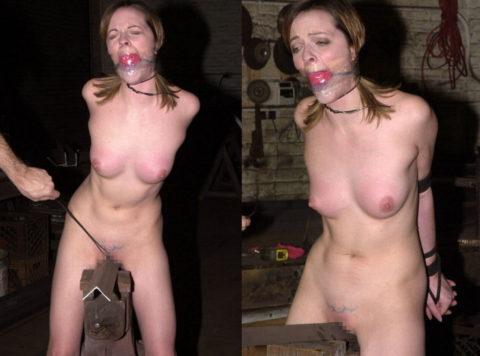 【調教】三角木馬で本気の拷問されてる女さんをご覧ください…これは痛すぎる(画像あり)・7枚目