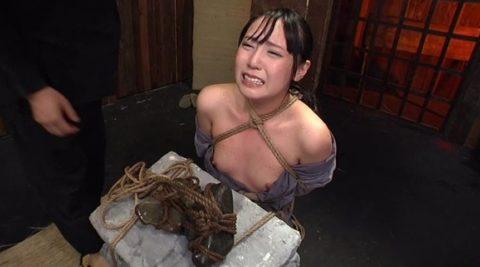 【調教】「石抱き拷問」とかいうプレイ、これ興奮する奴いるの?wwwwww(画像あり)・10枚目