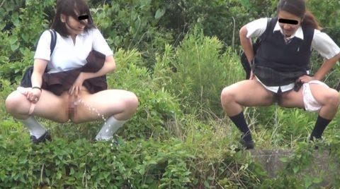 「オシッコなう」マジキチ女が野外放尿してる光景がコレ。。(画像あり)・17枚目
