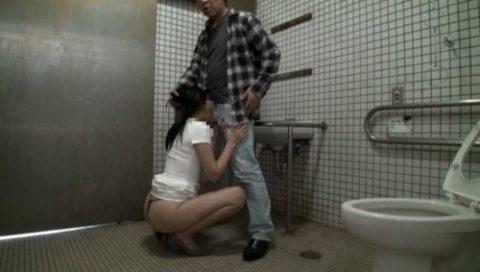 【エロ画像】身体障害者用のトイレで「セックス」するアホが撮影されるwwwww・9枚目