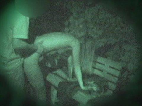 【エロ画像】深夜の公園で 合体 してるカップルが激写されるwwwwww・11枚目