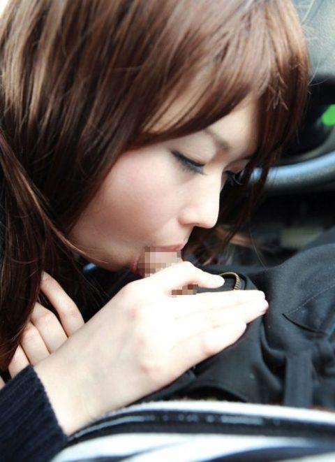 【フェラ】渋滞中に、女「暇やなぁ…せやっ!」ってなったらこうなるwwwww(エロ画像)・12枚目