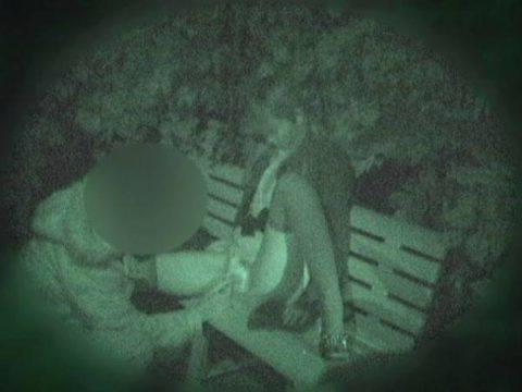 【エロ画像】深夜の公園で 合体 してるカップルが激写されるwwwwww・13枚目