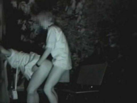 【エロ画像】深夜の公園で 合体 してるカップルが激写されるwwwwww・27枚目