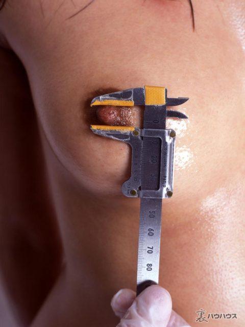 "【JKエロ】身体測定で""乳輪""のサイズを測られる…3センチ以上でデカ乳輪wwwww・12枚目"