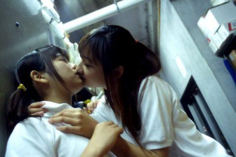 【エロ画像】清楚な女の子、制服でレズプレイしてるんだが…(エロ画像29枚)・3枚目