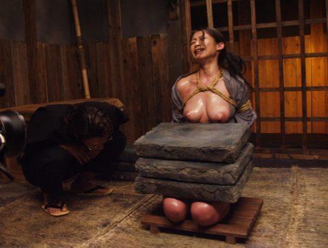【SMエロ】地獄の「石抱き拷問」とかいう理解できないプレイ・・・(33枚)・17枚目