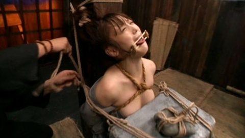【SMエロ】地獄の「石抱き拷問」とかいう理解できないプレイ・・・(33枚)・20枚目
