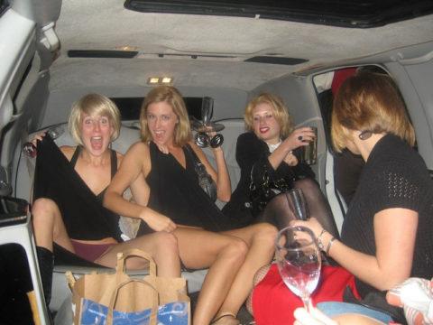 【エロ画像】流行りの リムジン女子会 で酒に飲まれた女の末路。。・20枚目