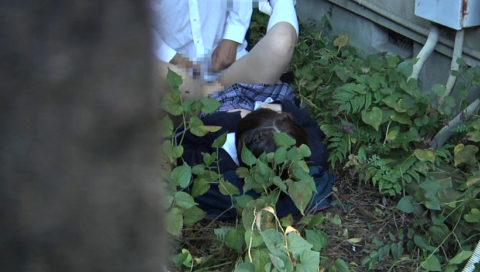 【エロ画像】金無しバカップル、昼間から青姦して撮影されるwwwwww・23枚目