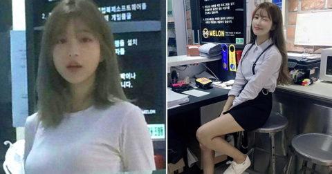 【エロ画像】韓国女子が超ミニスカでバイトしてる店で撮影されたエロ画像がこれwwwwww・10枚目