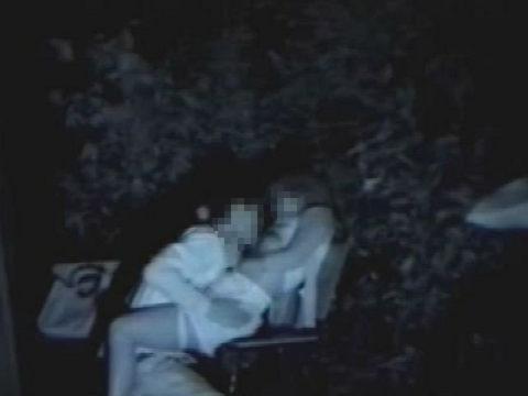 【エロ画像】夜の「青姦スポット」に赤外線カメラを仕込んだ結果wwwwwwww・14枚目