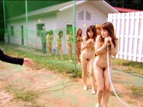 性奴隷にされてしまった女さん、買われてこうなる運命です。。これはヒドイ(エロ画像)・23枚目