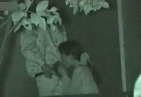 【エロ画像】夜の「青姦スポット」に赤外線カメラを仕込んだ結果wwwwwwww・24枚目