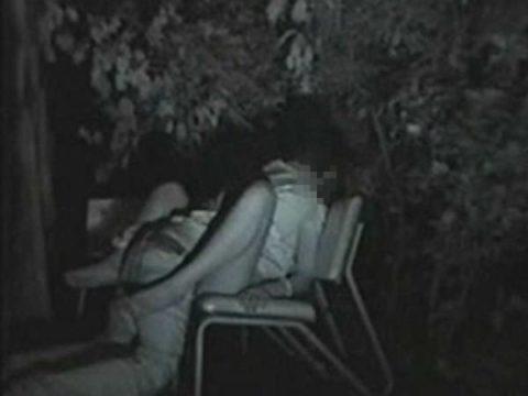 【エロ画像】夜の「青姦スポット」に赤外線カメラを仕込んだ結果wwwwwwww・29枚目