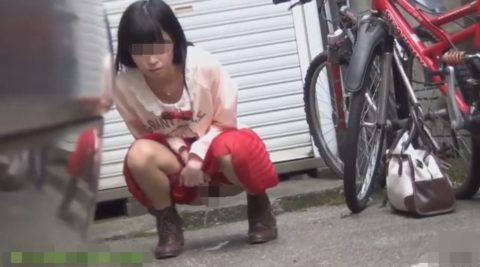 【エロ画像】羞恥心が無くなったJKさんお外で放尿して撮影されるwwwwww・10枚目