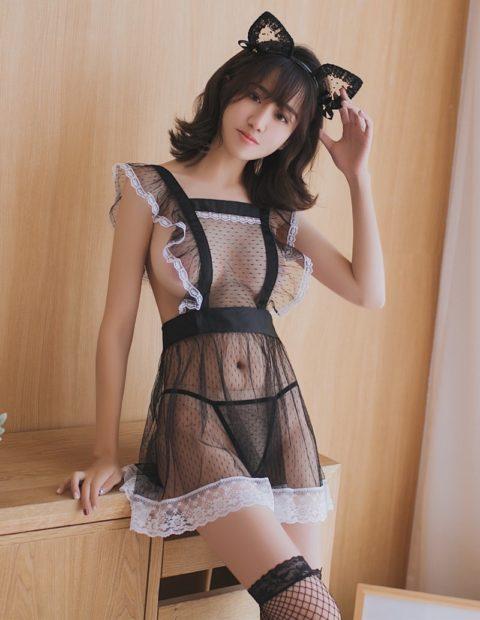 【コスプレ】露出度が異常な台湾メイドまんさんのエロ画像まとめwwwwwww・6枚目